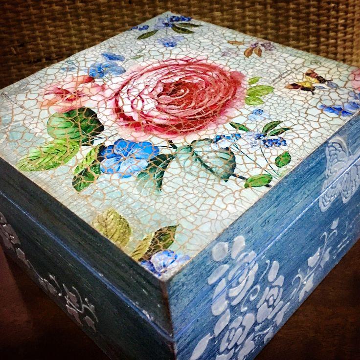 Decoupage box, Decorative Box, Decoupage, Dekupaz, Box
