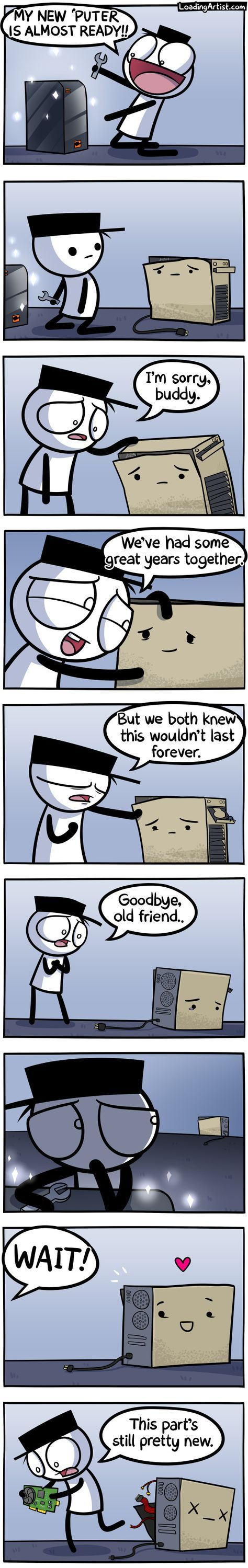 A comic about getting a new computer.. tap to see the full thing!