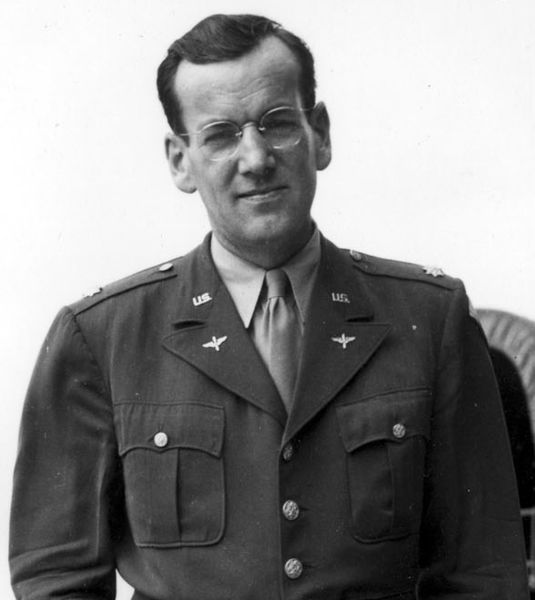 Bandleader Maj. Glenn Miller, US Army Air Forces (USAF photo). On Dec. 15, 1944, Miller was killed when a plane ferrying him from England to France disappeared over the English Channel in bad weather.