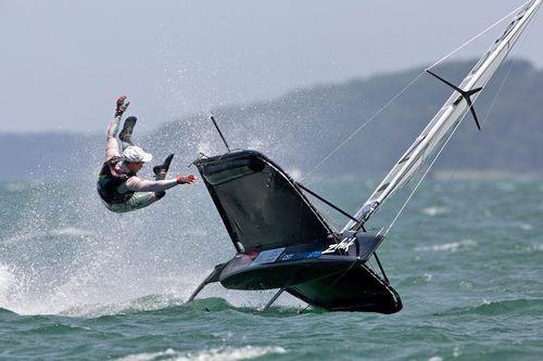 moth sailing...ooops!                                                                                                                                                      More