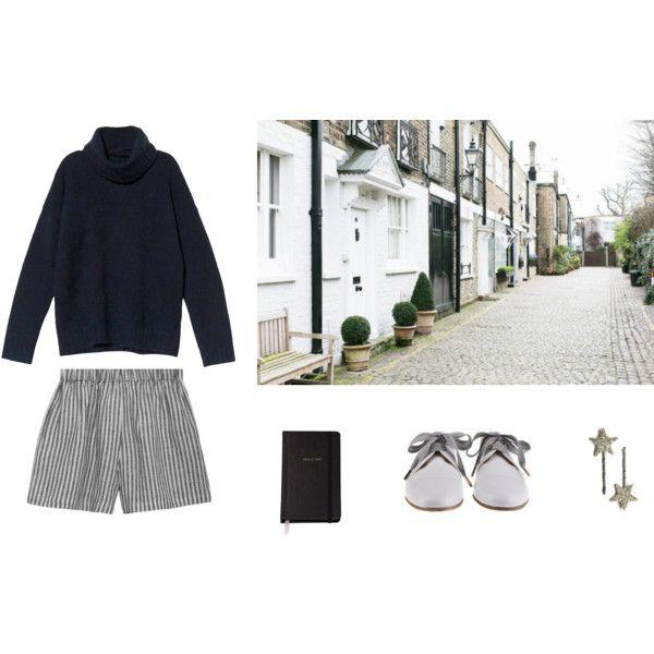 90. I don't know what I'm doing by wednesday12 on Polyvore featuring Theory, le vestiaire de jeanne, SchoShoes, Kate Spade, Blue, stripes, pinstripes and village