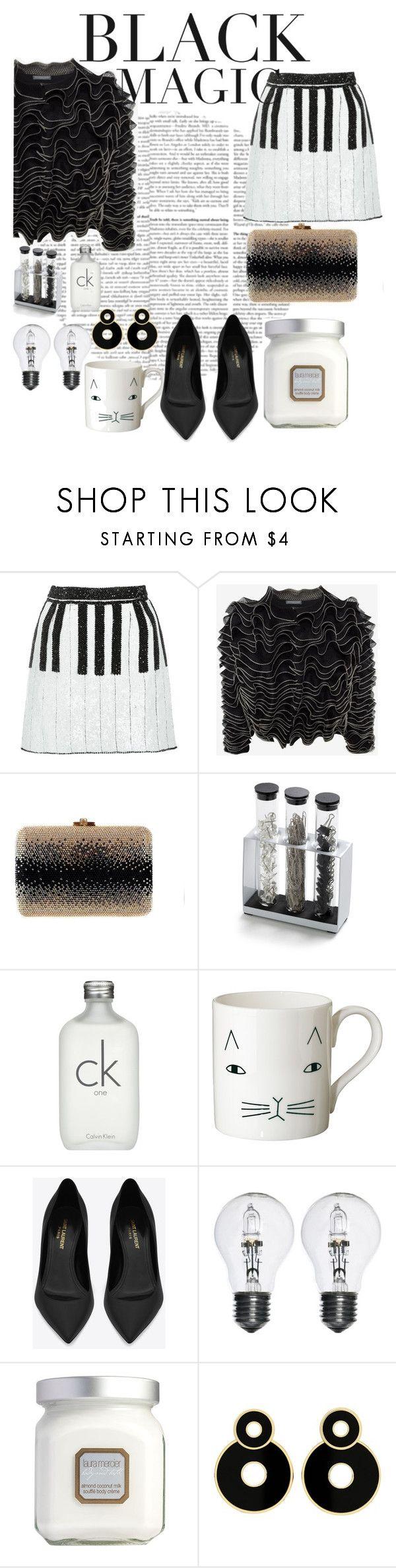 """Black magic"" by kingaflp ❤ liked on Polyvore featuring Dolce&Gabbana, Alexander McQueen, Leiber, Lab, Calvin Klein, Donna Wilson, MANGO, Yves Saint Laurent and Laura Mercier"
