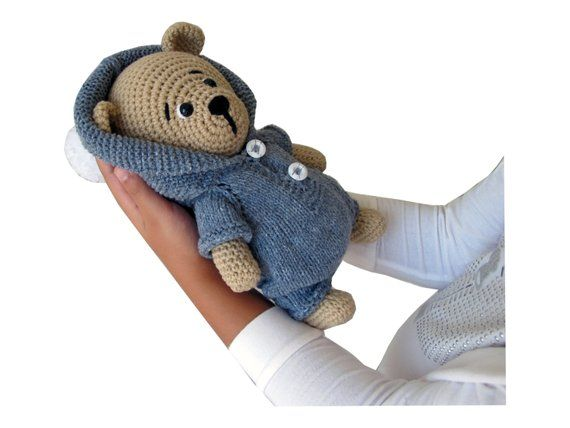 Theodore is a classically styled teddy bear with a twist– he's knitted out of…