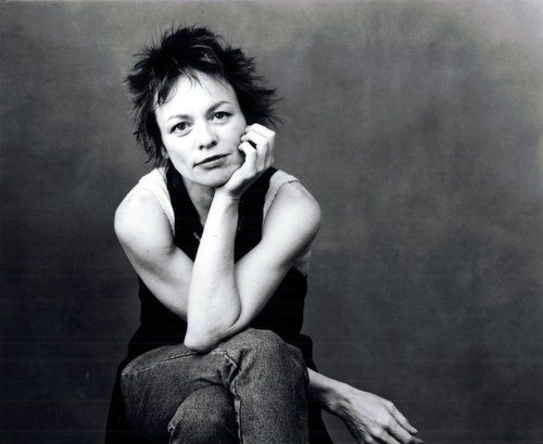 Performance artist Laurie Anderson gazes into the lens in 1994 for Annie Leibovitz.