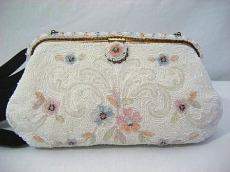 French Beaded Evening Handbag Vintage Purse France Totes Galore Pinterest Purses And Handbags