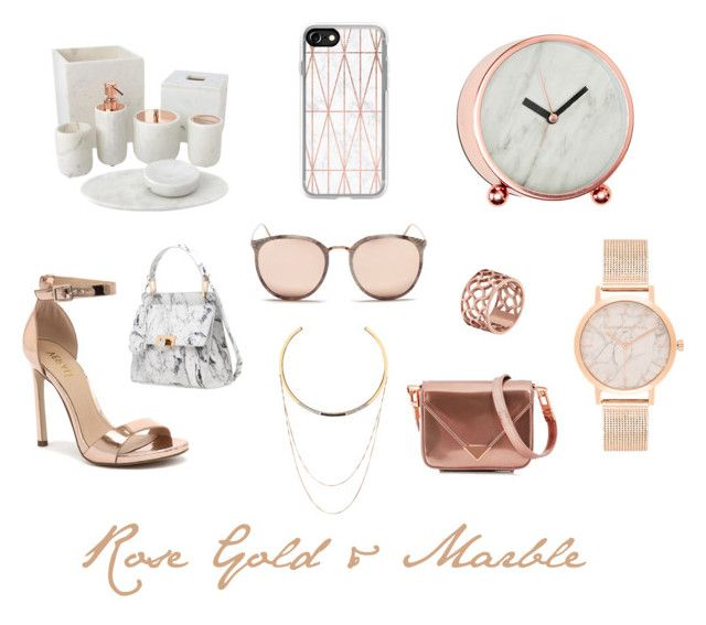 """Rose Gold & Marble"" by theclosetofd on Polyvore featuring Casetify, Linda Farrow, Home Decorators Collection, Edge of Ember, Tartesia, Verali, Alexander Wang and Balenciaga"