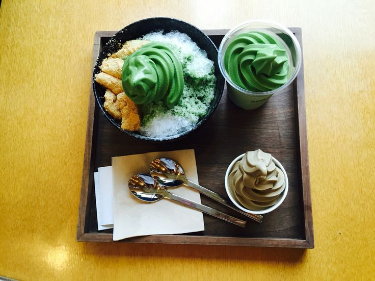 Greentea. Osulloc. South Korea. Jeju island  shavedice & icecream