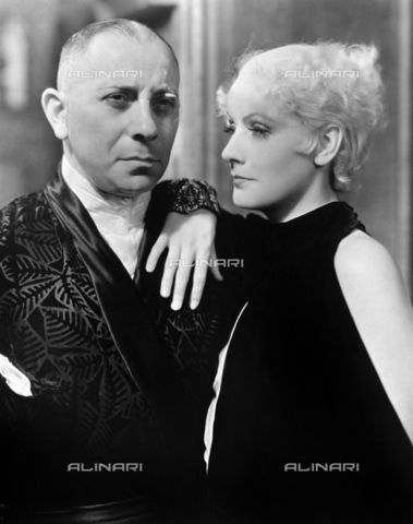 "Greta Garbo and Erich von Stroheim in a scene from the film ""As You Desire Me"" (As You Desire Me), directed by George Fitzmaurice, United States, 1932, Granger, NYC/Alinari Archives http://www.alinariarchives.it/en/search?query=Greta Garbo"