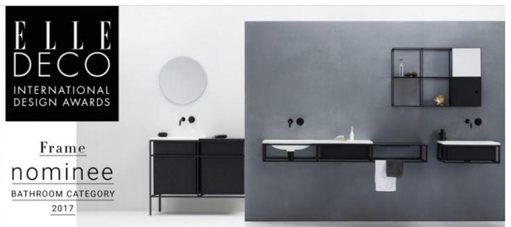Notre gamme préférée d'octobre 2017, la ligne de meubles et de vasques FRAME est nominée aux ELLE DECO INTERNATIONAL DESIGN AWARS 2017!! De chez Ex.t, disponible chez Water exception !