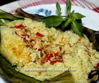 Resep Cara Membuat Nasi Bakar Isi Ayam