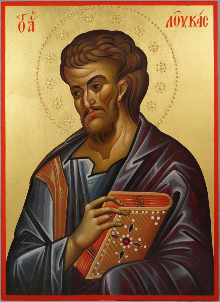 Apostle Luke – 14th c. Hilandar Hand-Painted Byzantine Icon