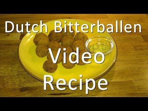 Bitterballen Recipe - Dutch Meatballs - Bitterballs - Small Croquette - YouTube