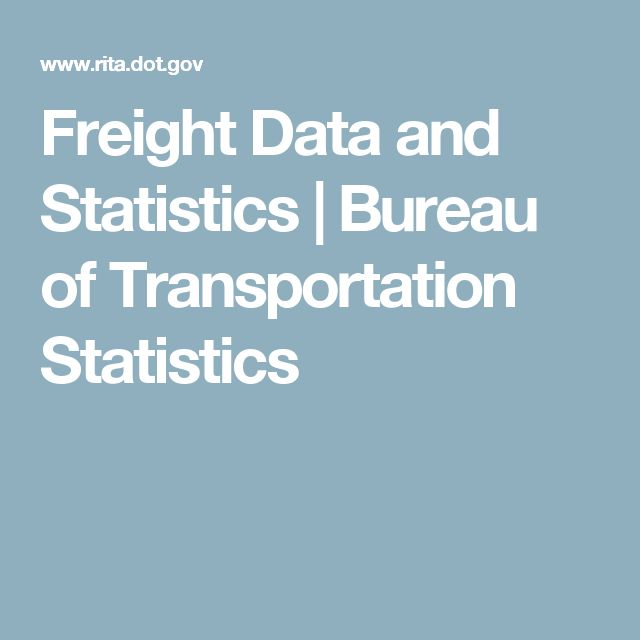 Freight Data And Statistics Bureau Of Transportation Statistics