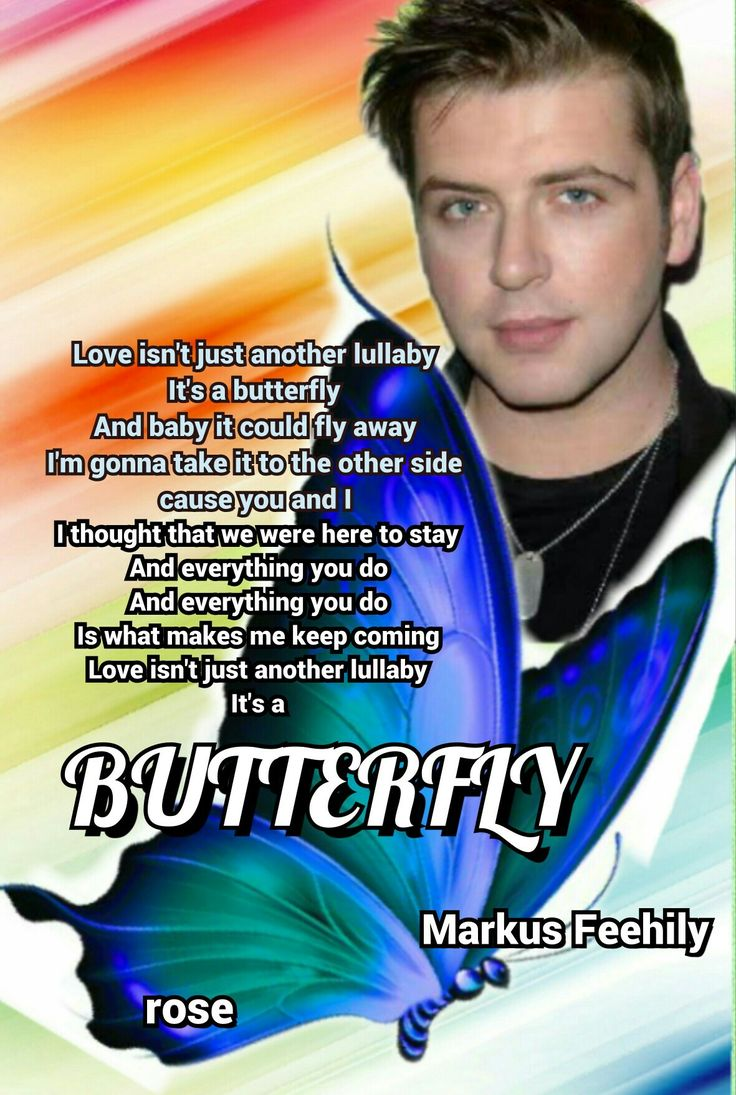 "Markus Feehily  ,""Butterfly"