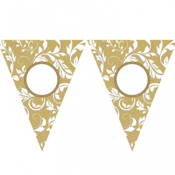 Amscan   Gold Bunting   Anniversary Party Supplies