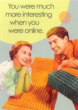 Statistics show that many individuals may lie about their online profiles. This image shows a great representation of that. As a college freshman be aware that not everything online about someone you may be attracted to is true. This goes for any kind of digital media including social media sites. (observation)