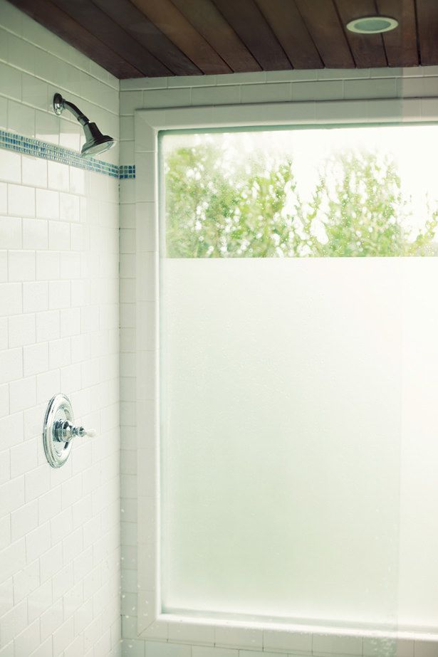 Try Inexpensive Contact Paper To Add Frosted Windows Window In Shower Bathroom Windows Bathroom Window Treatments