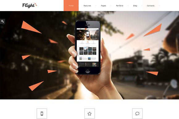 Check out Flight Bootstrap Responsive Template by IceTemplates on Creative Market