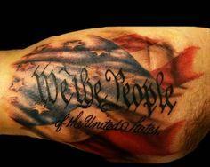 Top 10 American Flag Tattoo Design Ideas - http://sicktattoos.org/top-10-american-flag-tattoo-design-ideas/