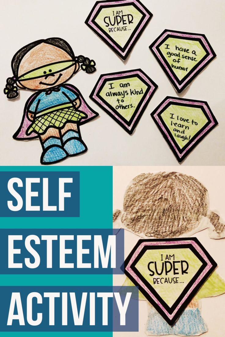 Elementary school counseling classroom guidance lesson to explore self esteem and self respect. Create a fun super hero self esteem craft! -Counselor Keri