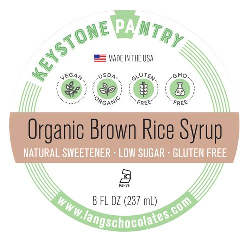 Organic Brown Rice Syrup 8 oz Bottle