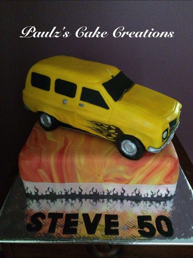 Panel van car cake