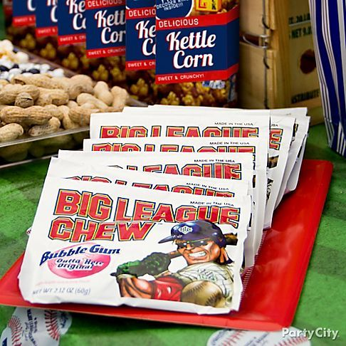 A baseball tailgate or party isn't the same without Big League Chew Bubble Gum in ballpark-style pouches for that classic feel!