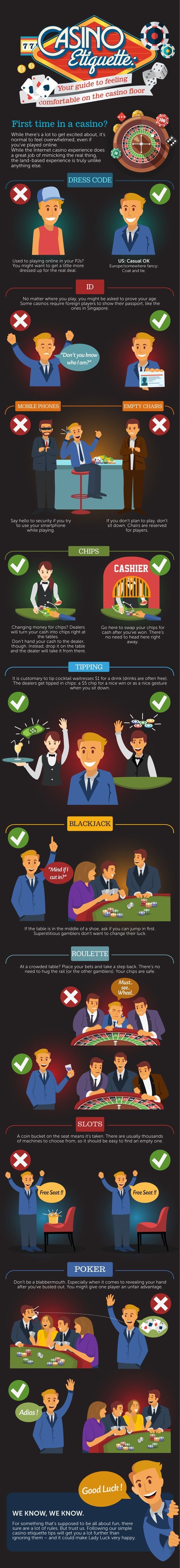 Casino Etiquette – The Best Guide that Makes You Feel Comfortable On the Casino Floor |