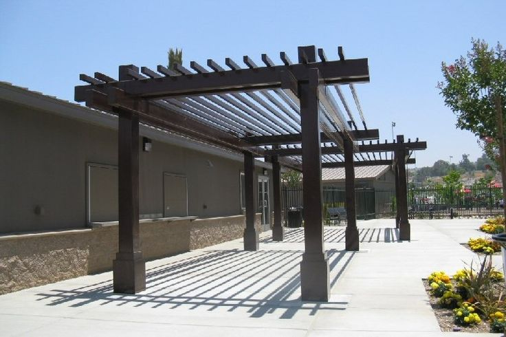 81 best images about metal pergola on pinterest steel for Pergola aluminum x