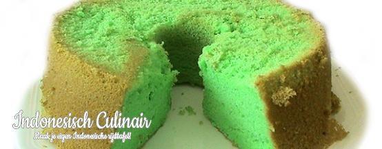 Sponge Cake Pandan - Zeer luchtige cake met pandan smaak - Very fluffy cake with pandan flavor