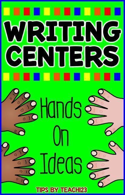 FREE Writing Center - Hands On Fun! Ideas for repurposing that is Earth friendly perfect for April.