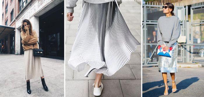 какую обувь носить с юбкой миди фото