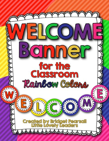 FREE welcome banner in bright, rainbow colors!