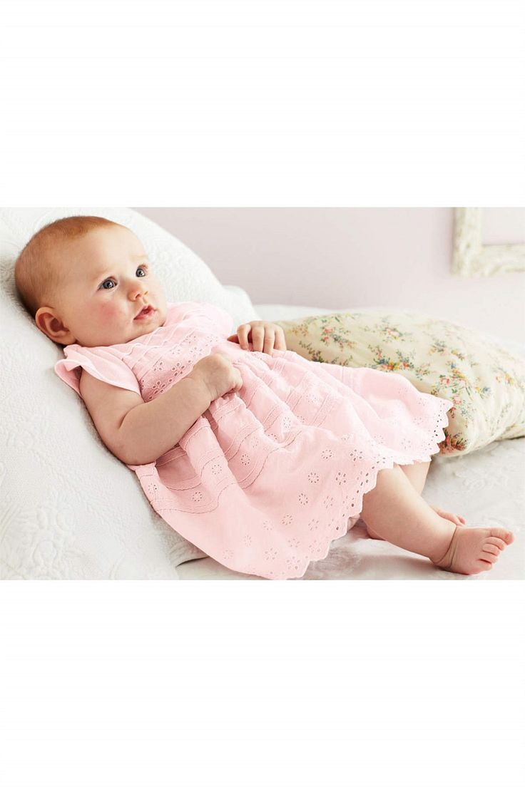 Newborn Dresses - Baby Dresses and Infantwear - Next Pintuck Broidery Dress - EziBuy Australia