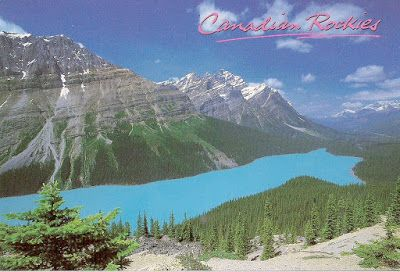Travels with postcards around the world: PEYTO LAKE