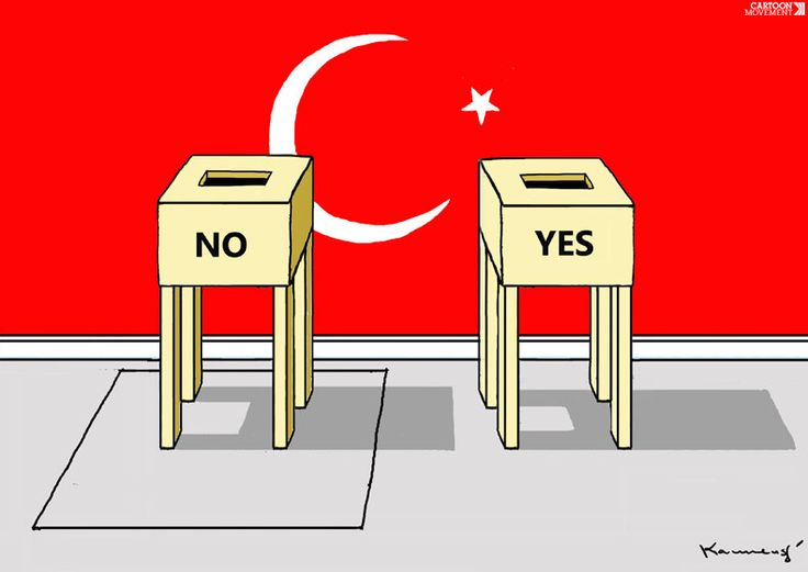 The Choice in #Turkey   by Marian Kamensky   https://www.cartoonmovement.com/  @cartoonmovement