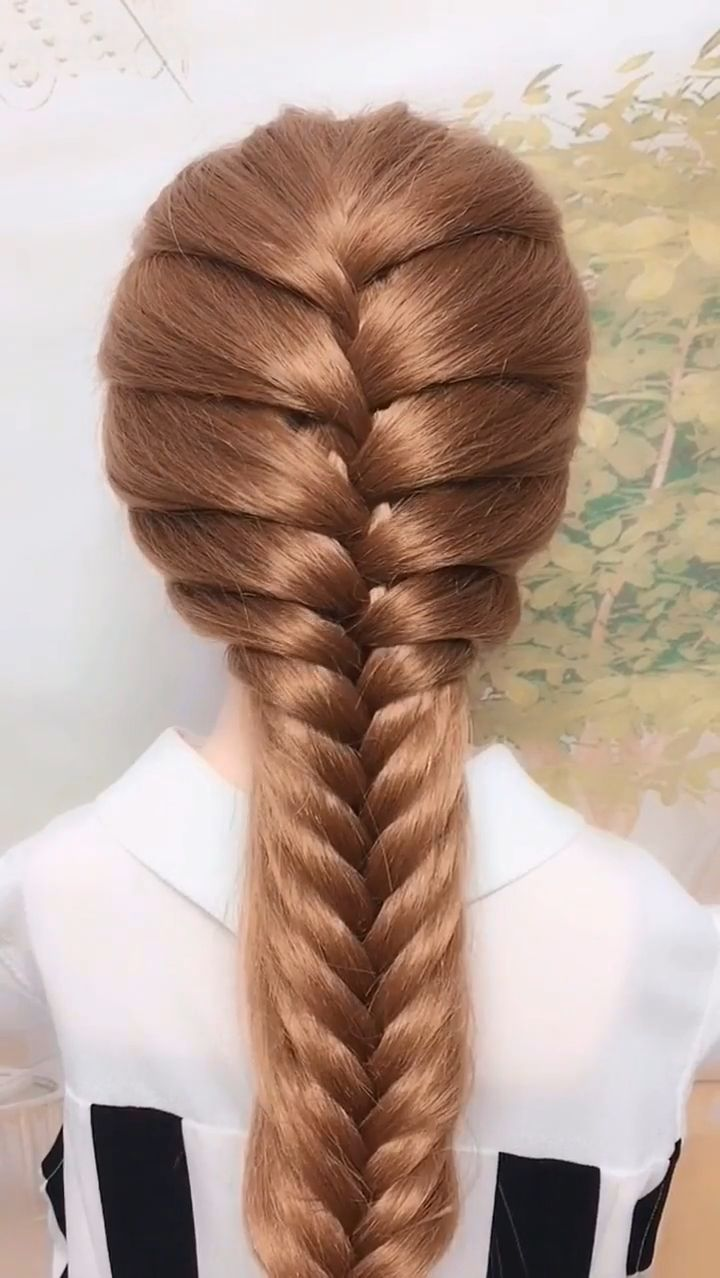 How About This Hairstyle Try It On The Weekend About Hairstyle Weekend Hairstyleideas Hair Styles Braids For Long Hair Hair Tutorial