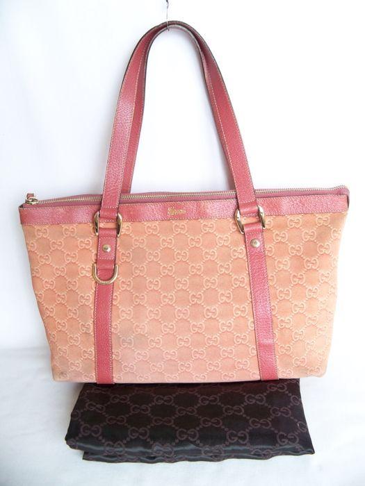 b27087e5f4fae6 Online veilinghuis Catawiki: Gucci - Tote tas - * Geen reserveringsprijs *  - Vintage