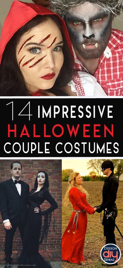 Want something easy, impressive, unique and comfortable for your couple Halloween costume? Click here for 15 great ideas this Halloween!