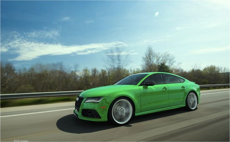 Audi RS7 makes competitors go green with envy.  #RS7 #green #envy #supercars #vroom #luxury
