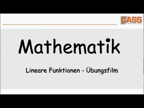 Lineare Funktionen - Übungsfilm - YouTube