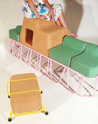 Perfekte Ausstattung Fürs Kinderzimmer. Mit Diesen Möbeln Aus Kork Kann Das  Kind Ausgelassen Spielen.