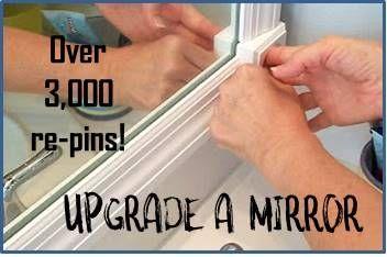 Frame that plain bathroom mirror