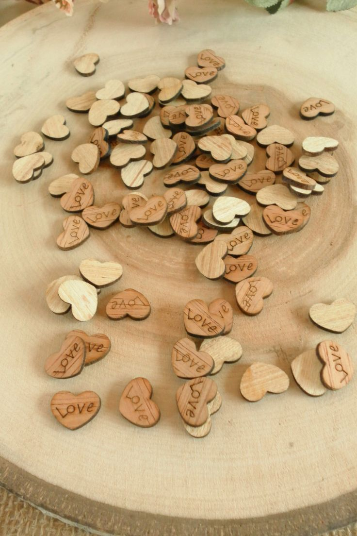 "100 Tiny ""Love"" Hearts ~ 0.5"" ~ Cute Little Wooden Hearts! Rustic Table Confetti, Wedding Table Scatter, Rustic Wedding Decor, Barn Wedding by CountryChapel on Etsy https://www.etsy.com/listing/220825459/100-tiny-love-hearts-05-cute-little"