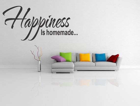 HAPPINESS IS HOMEMADE Wall Sticker Quote by walldecalquotes, $15.99