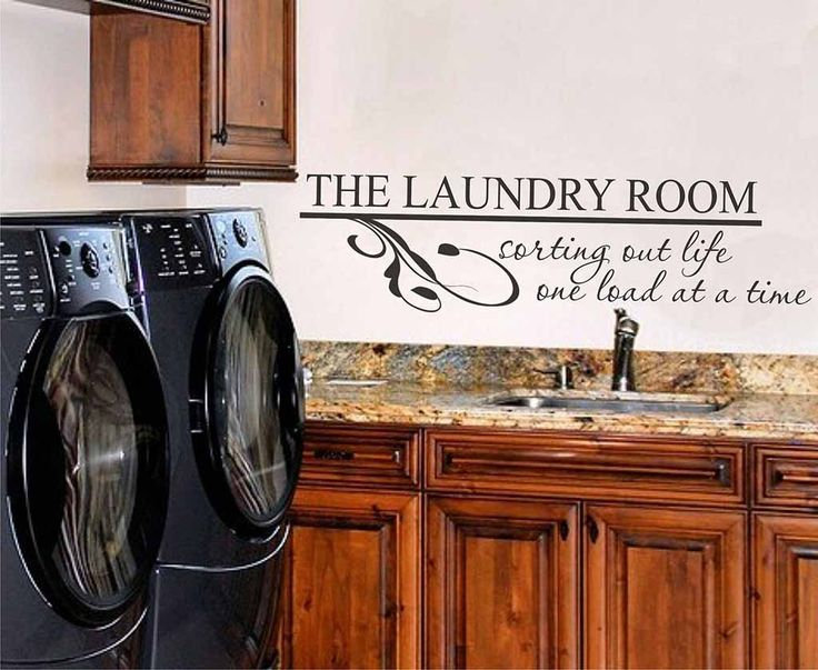 Laundry Room Wall Decor Stickers : Laundry room wall decals