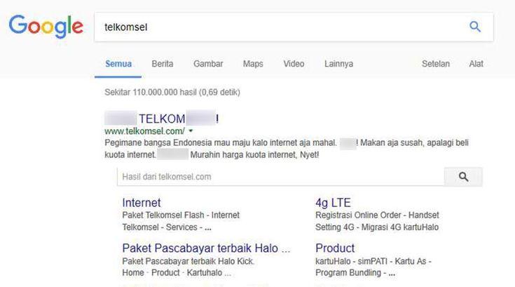Situs Telkomsel Kena Hack, Isinya Tuntutan Agar Tarif Diturunkan