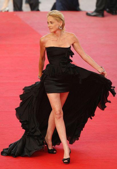 Sharon Stone rocks this Balmain dress