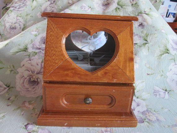 Vintage Coffret à bijoux en bois/ Vintage wooden Jewelry box