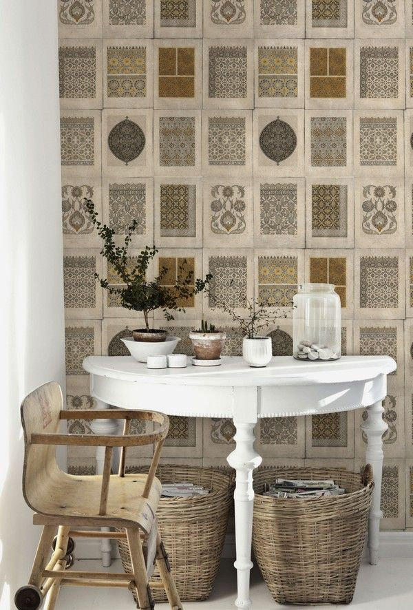 ARABESQUE Wallpaper from Old World Collection by MINDTHEGAP
